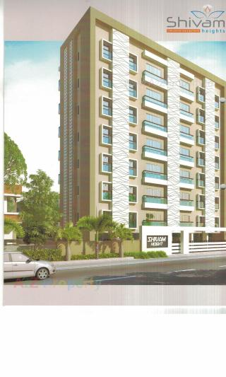 Elevation of real estate project Shivam Heights located at Manjalpur, Vadodara, Gujarat
