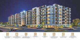 Elevation of real estate project Shreeji Vandan located at Bapod, Vadodara, Gujarat