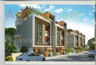Elevation of real estate project The Hamptons located at Gotri, Vadodara, Gujarat