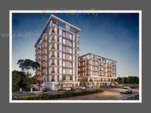 Elevation of real estate project Vakratund Bliss located at Bopad, Vadodara, Gujarat