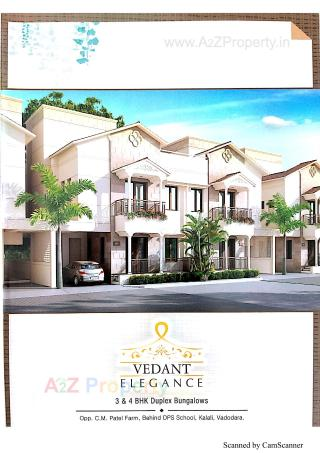 Elevation of real estate project Vedant Elegance located at Kalali, Vadodara, Gujarat