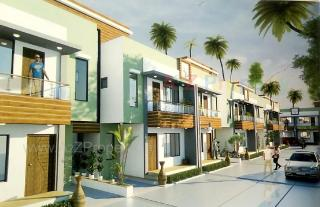 Elevation of real estate project Vraj 21 Bunglows located at Nimetha, Vadodara, Gujarat
